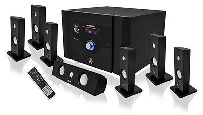 PYLE BLUETOOTH 7.1 CH 500W HOME THEATER SYSTEM STEREO SPEAKER SURROUND SOUND NEW