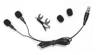 Pyle PLMS48 Dual Electret Condenser Cardioid Lavalier Microphone shure -