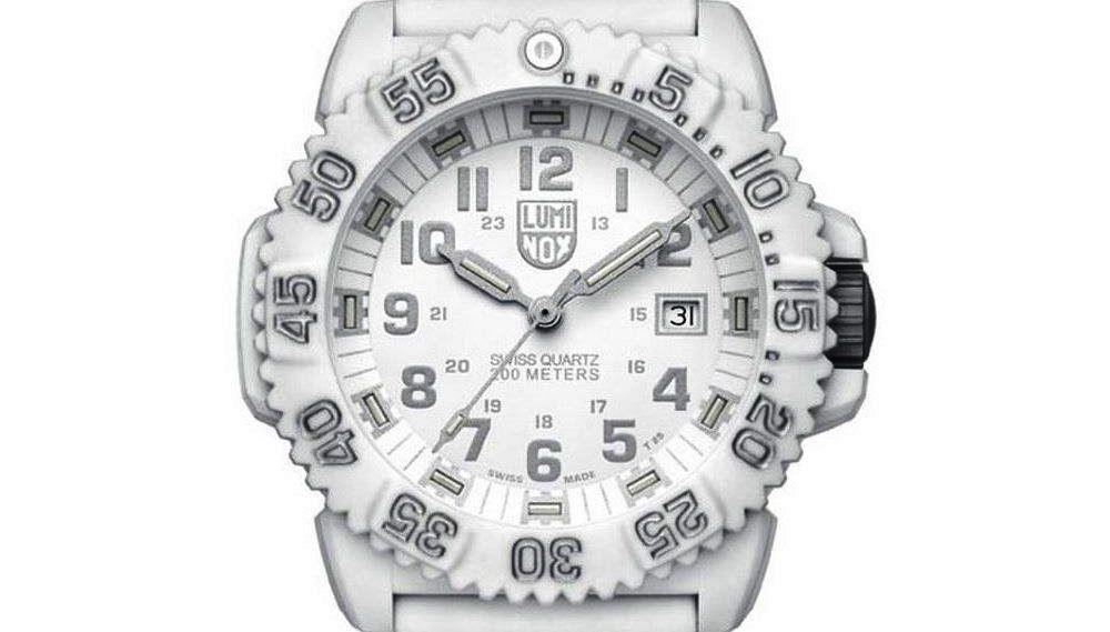 NEW $395 Luminox Men's Swiss Quartz Movement Polyurethane Strap Watch 3057.WO