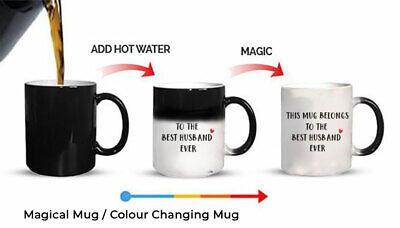 Mug Belongs to Best Husband Magic Mug Gift colour changing Ceramic Coffee...