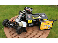 HPI Baja 5b SS 1/5 Scale Buggy 28.5cc Tools, Spares, Controller