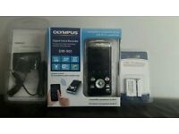 Olympus Digital Voice Recorder DM-901 with long range microphone accessories and extra battery