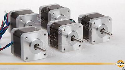 DE ship to EU 5PC Nema17 Stepper Motor 60oz,1.7A,40mm for 3D printer CE