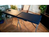 Marshcouch massage table for sale. Colour blue.
