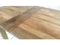 2-4 Persons Petite Square Leg Extending Rustic Farmhouse Dining Kitchen Table