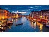 2 flight tickets Manchester - Venice 14 Sep (changeable date)