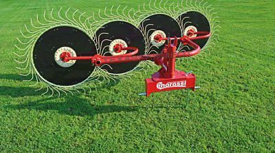 Enorossi Rp5 5 Wheel 3-point Hay Rake - Ships Free To Tx Surrounding States