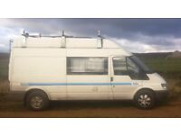 Transit high roof LWB camper 2004