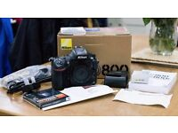 Nikon D800 Body (Mint Condition)