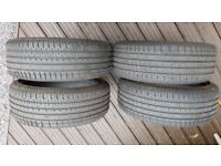 205/40 18R Accelera Tyres X4 Nearly New