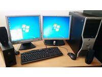 DELL Precision 390 Full Desktop Tower PC System 2x TFT Dual Monitor SSD Win 7 Pro 64