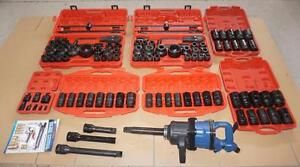 "NEW HEAVY DUTY 117 PIECE AIR 1 INCH IMPACT SET 1"" 3/4"" TOOL SET METRIC AND SAE SOCKETS"