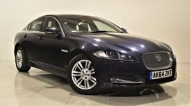 JAGUAR XF 2.2 D LUXURY 4d AUTO 163 BHP + 1 OWNER + SERVICE (blue) 2014