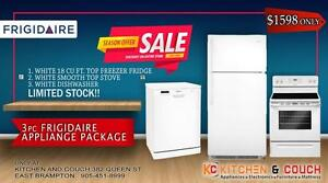 MISSISSAUGA GRAND APPLIANCE SALE || GREAT FRIGIDAIRE 3 PC APPLIACE PACKAGE - ONLY $1598 (AD 419)