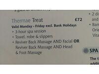 Bath thermal spa voucher worth £72