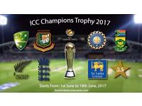 ---ICC Champions Trophy Tickets Inc Pakistan vs India----High in Demand Cricket Tickets