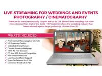 LIVE STREAMING Services for Registrations,Engagements, Mehndi, Weddings & other Events