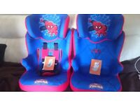 2 x Car seats hardly used as they spares at nannies house