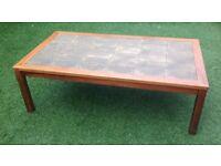 Rosewood Danish tiled coffee table 1970s
