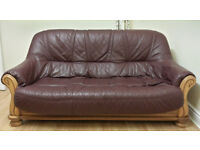 Real Leather Italian Sofas - 2 Seater & 3 Seater