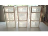 Three (3) Plastic 3 Drawer Storage Units - Great for dorm, bedroom, bathroom, office, garage, shed
