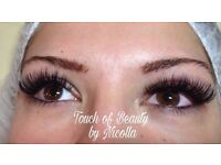 Eyelashes extension 3D rusian, American volume, silk , mink