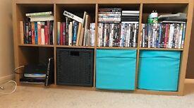 Shelving Storage Unit/Vinyl Storage/TV Unit - with 4 boxes - IKEA