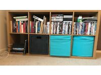 Shelving Storage Unit/Vinyl Storage/TV Unit - with 4 boxes - IKEA