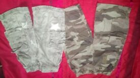 Two pairs of boys shorts Size 2/3