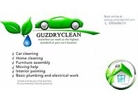CAR CLEANING - HOUSE CLEANING - CLEANING SERVICES - FURNITURE ASSEMBLY