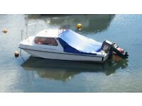 Boat wilson flyer 60hp engine trailer included and many more extras