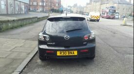 2007 Black Mazda 3 Sport 2.0L Petrol with full leather seats and Bose Speaker System