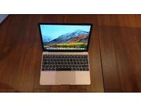 Macbook Retina mid 2017 - 2018 Rose Gold laptop 256gb SSD 8gb pro ram memory