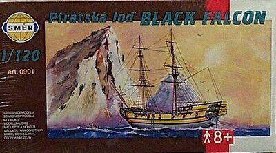 Smer 1/120 Black Falcon Pirate Sailing Boat Ship 901