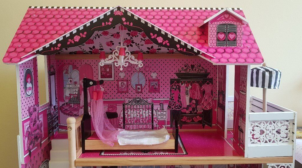 Excellent Condition Beautiful Kidkraft Dollhouse With Gliding