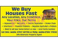 WE BUY HOUSES FAST