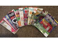 Quilting arts magazines