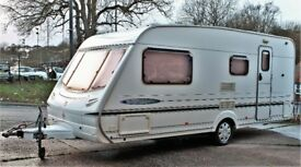 2003/04 ABBEY FREESTYLE 520 SE, 4 BERTH WITH END BATHROOM - 1 DAY SALE £3,300 - CHEAP!, BARGAIN!