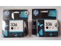 BRAND NEW SEALED 2X GENUINE HP 336 BLACK INK CARTRIDGES.