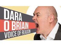 2 x Stall Tickets for Dara O'Briain (Row P seats 27 & 28) at Glasgow Armadillo on Sun 27/5/18