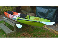 FEEL FREE CORONA Sit on top KAYAK with 3 seating positions. With 2 seats and 2 paddles (220cm)