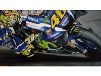 Moto gp rossi oil painting
