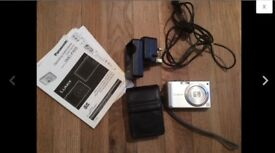 Digital Camera Panasonic LUMIX DMC Fx55 with charger, leather case, memory card