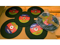 Stone Cutting Discs 10 off All New. Size 300mm dia x 3.5mm Width x 20mm dia Mounting Hole