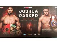Joshua v Parker tickets x3