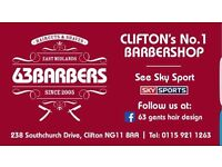 Barber wanted for very busy Nottingham Barbershop.