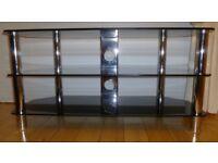 BLACK GLASS TV STAND (3 TIER)