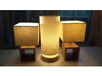 Three (3) Side/Accent Lamps With Shades & Bulbs Included