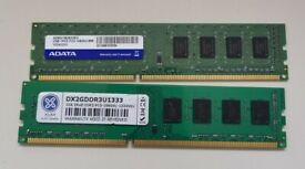 **** Free *** 2 x 2GB DDR3 Memory for desktop/tower computers