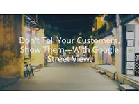 Google's 360º virtual street view cameras inside your business. -Marketing Consultant